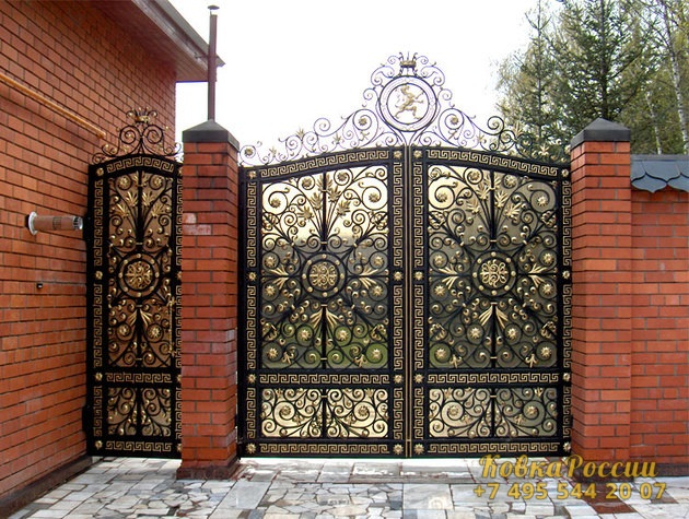 кованые ворота 002