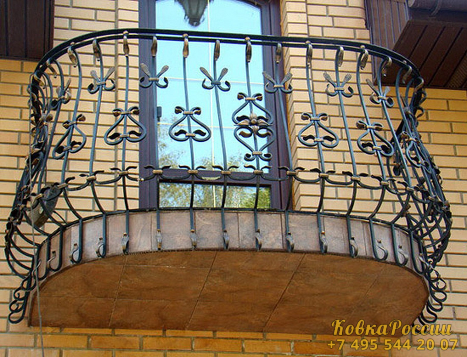 кованые балконы 035