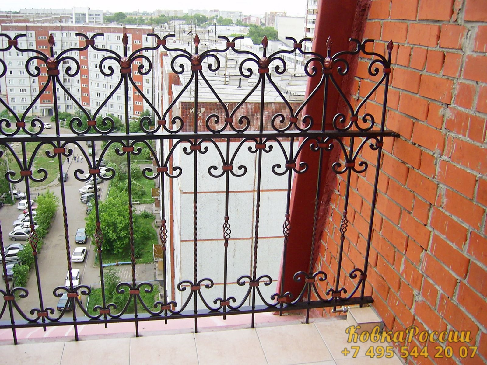 кованые балконы 007