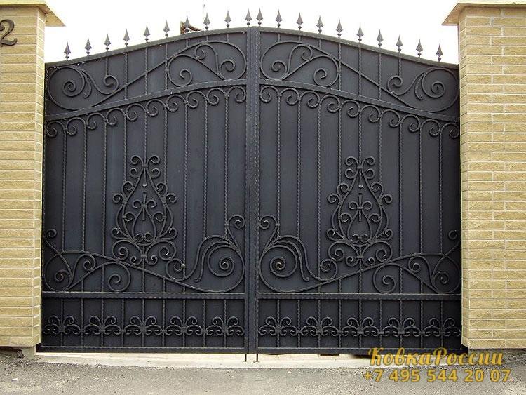 кованые ворота 016