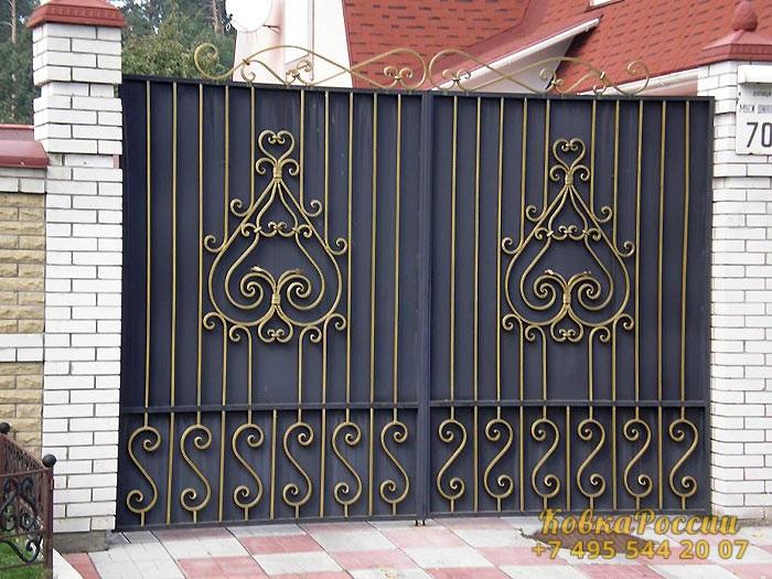 кованые ворота 013