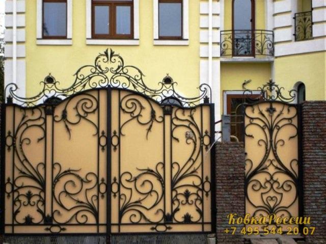 кованые ворота 008